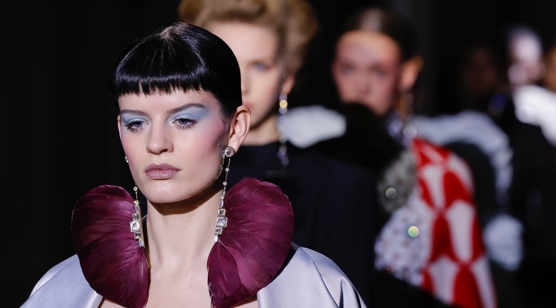 The baby bangs trend at Spring 2020 Couture Week