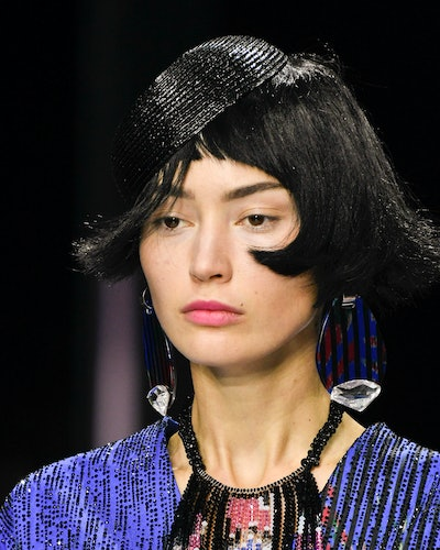 The baby bangs trend at Armani Privé's Spring 2020 Couture show.