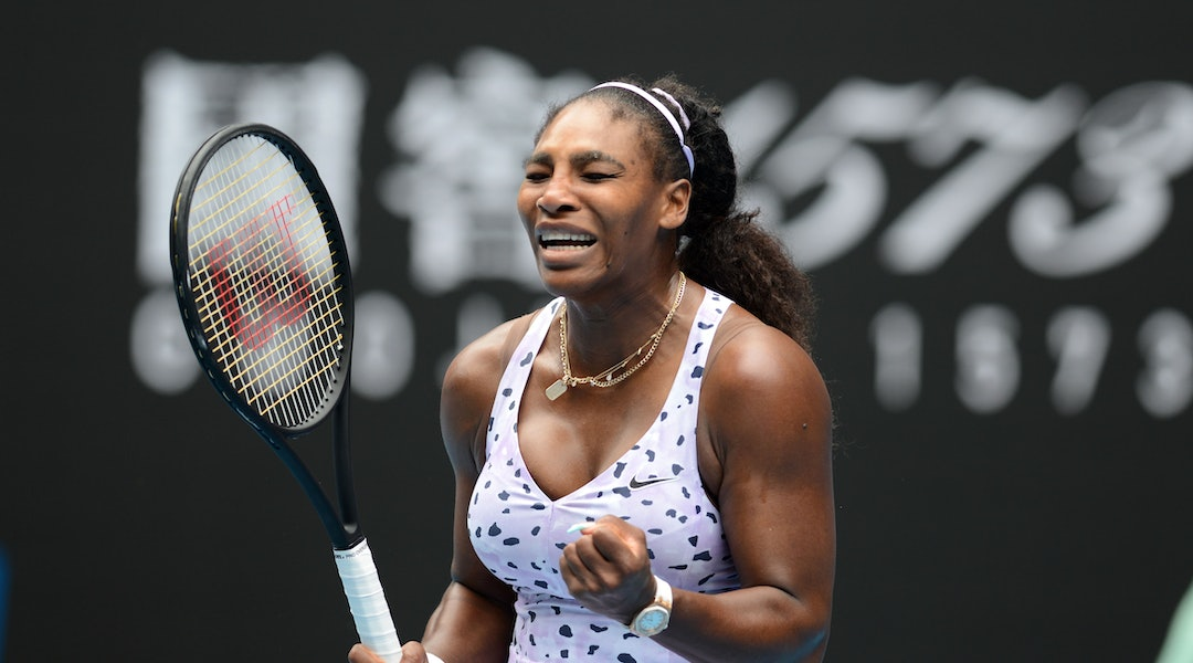 Serena Williams' nails at the Australian Open are the most playful celebrity take on a french manicure yet.