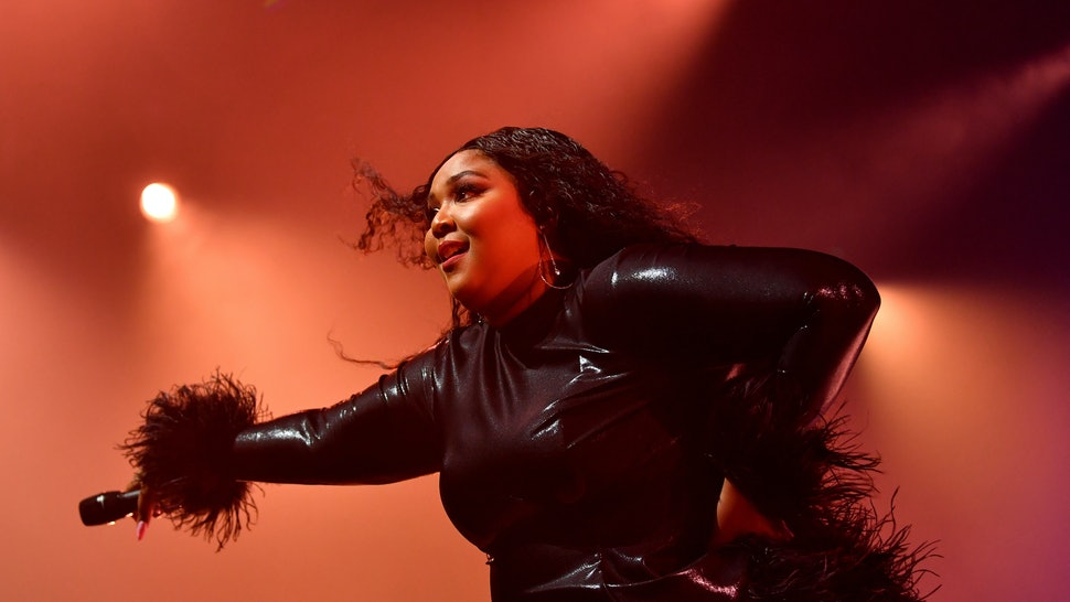 Lizzo performing