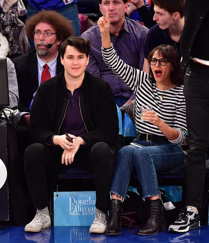 Rashida Jones smiles with boyfriend Ezra Koenig
