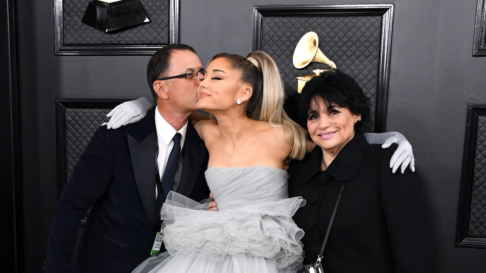 Ariana Grande brought her parents as her date to the 62nd Grammy Awards on Sunday, Jan. 26.