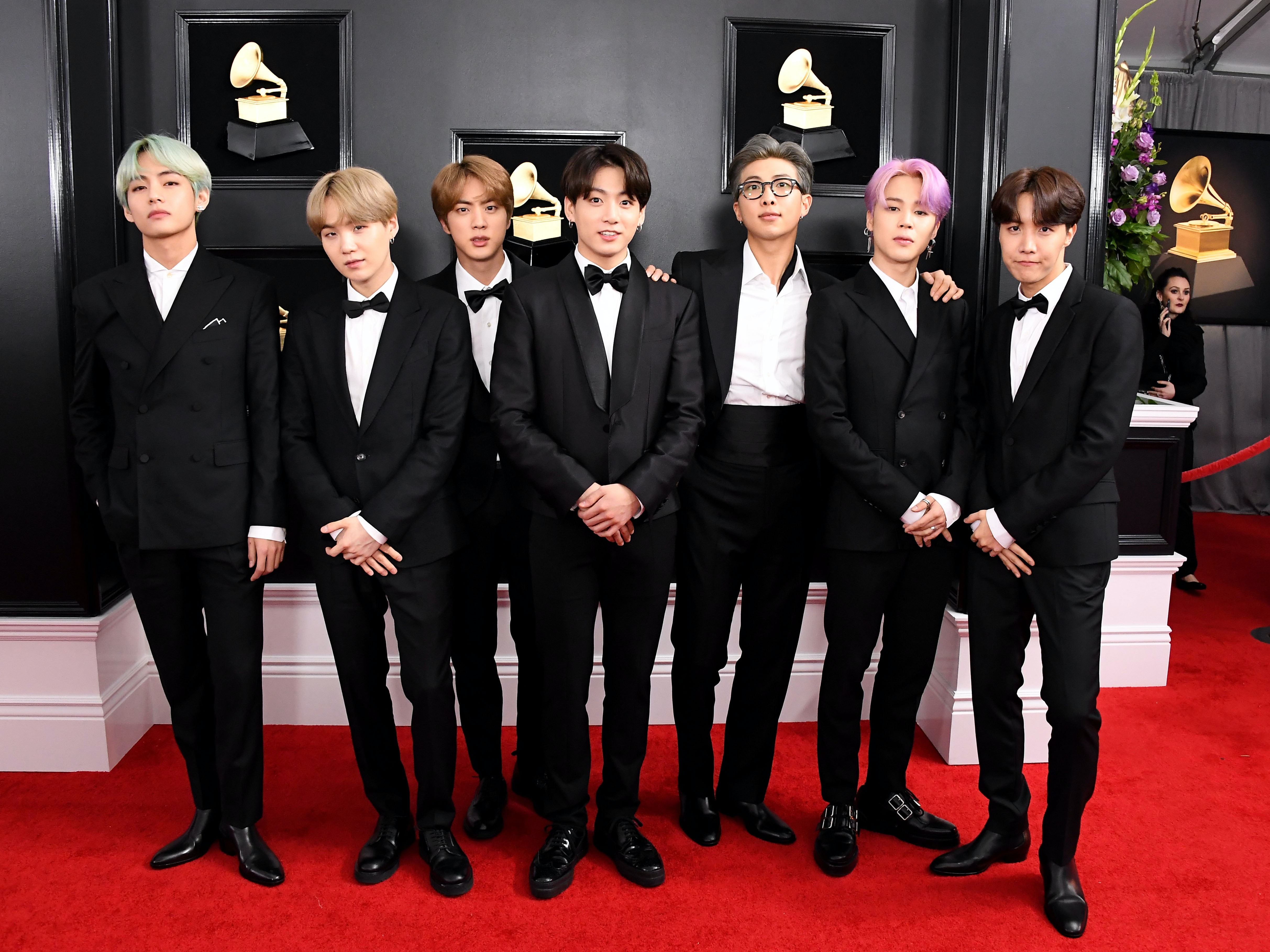 these photos of bts at the 2020 grammys are pure perfection 2