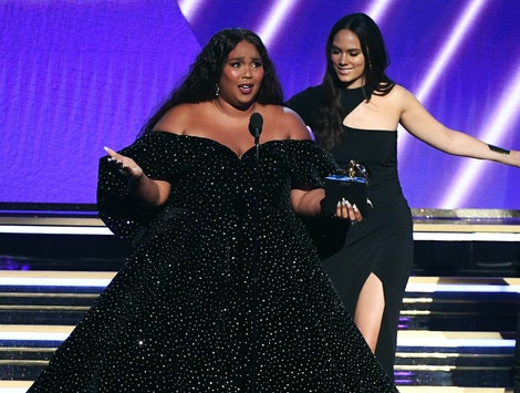 """Lizzo accepted the 2020 Grammy for Best Pop Solo Performance for """"Truth Hurts."""""""