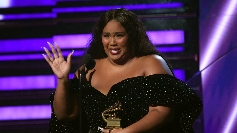 Lizzo was all about rocking out to Aerosmith's Grammy performance.
