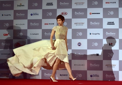 South Korean actress Park So Dam could wear her Busan Film Festival dress to the 2020 BAFTAs
