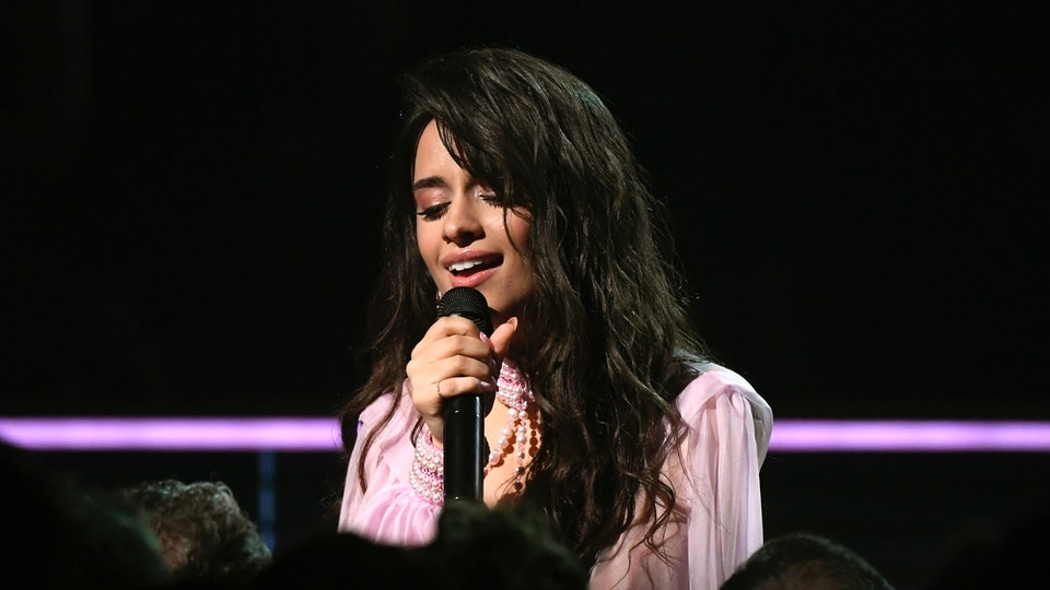 Camila Cabello sang to her dad at the Grammys.