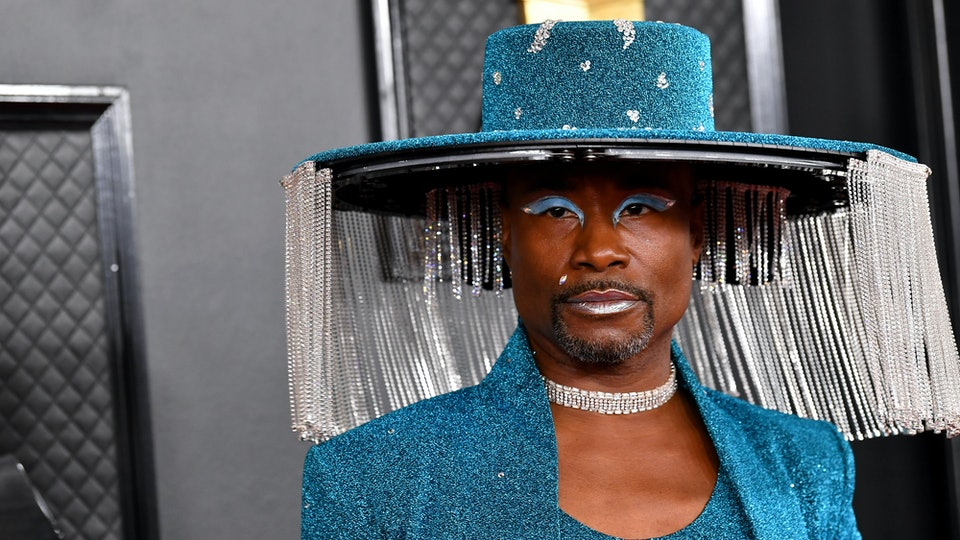 Billy Porter wore a motorized hat to the Grammys