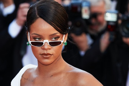 Rihanna wearing tiny sunglasses at the Cannes Film Festival in 2017