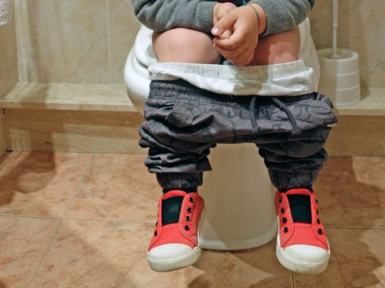 If your kid can't poop, a drop of peppermint oil in the toilet may help them go.