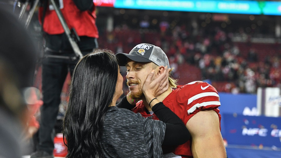 George Kittle is married to his college sweetheart.