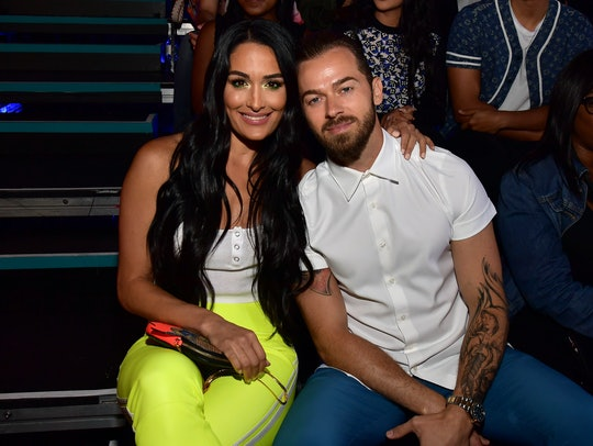 Nikki Bella and Artem Chigvintsev used a sonogram photo to announce that Nikki and twin sister Brie Bella are both pregnant.