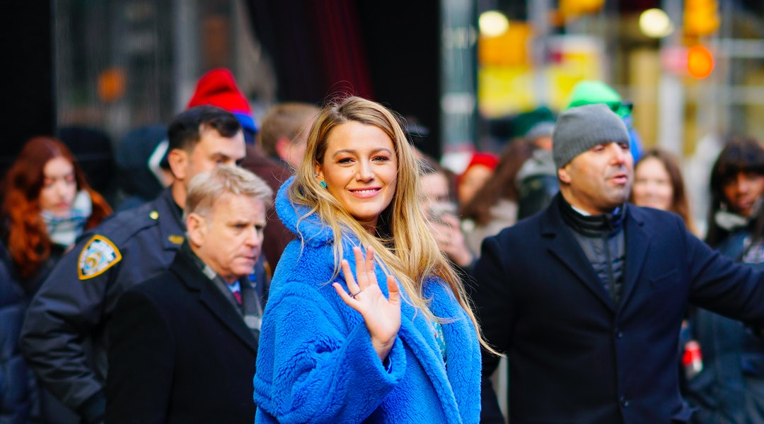 Blake Lively's dark red nail polish is one of 2020's biggest trends