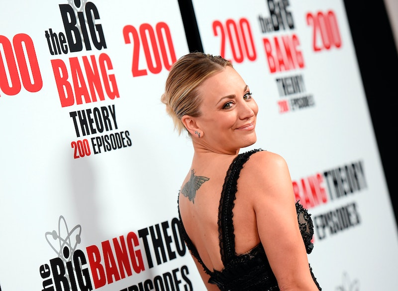 Kaley Cuoco got a moth tattoo to cover up her wedding date tattoo.
