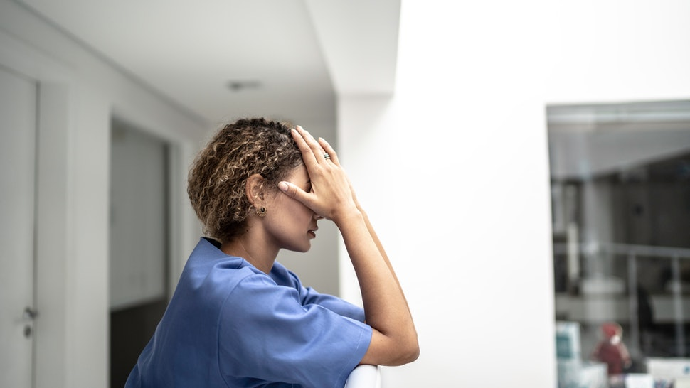 A woman is stressed in a hospital. Stress can affect the body, the brain, the organs and the immune system in varying ways.