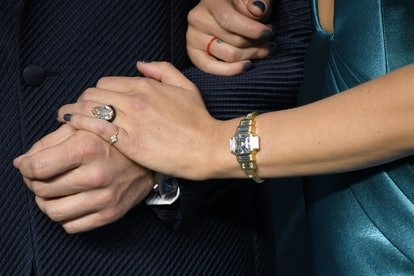 After two years of on-the-record dating, the Johansson and Jost announced their engagement. Photo vi...