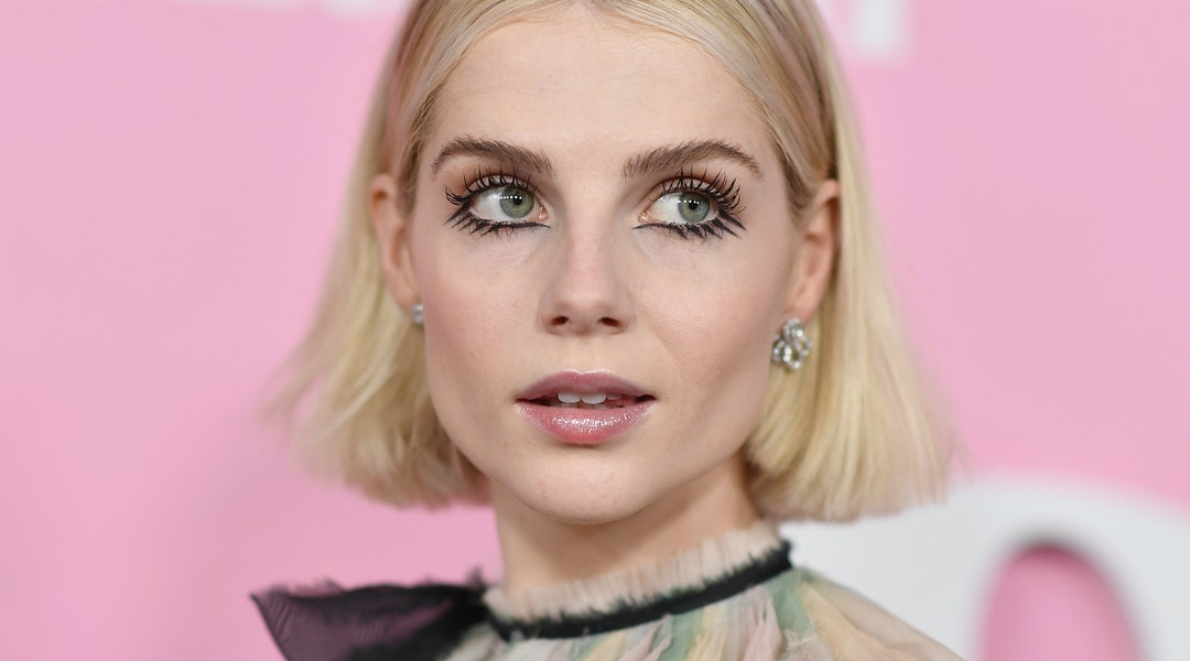 Lucy Boynton is one of many who are rocking 60s makeup trends lately