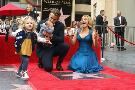 Blake Lively, Ryan Reynolds, and their two older daughters. During an appearance on 'The Tonight Show Starring Jimmy Fallon' Blake Lively revealed that her second daughter, Inez, was not sold on her newborn baby sister.