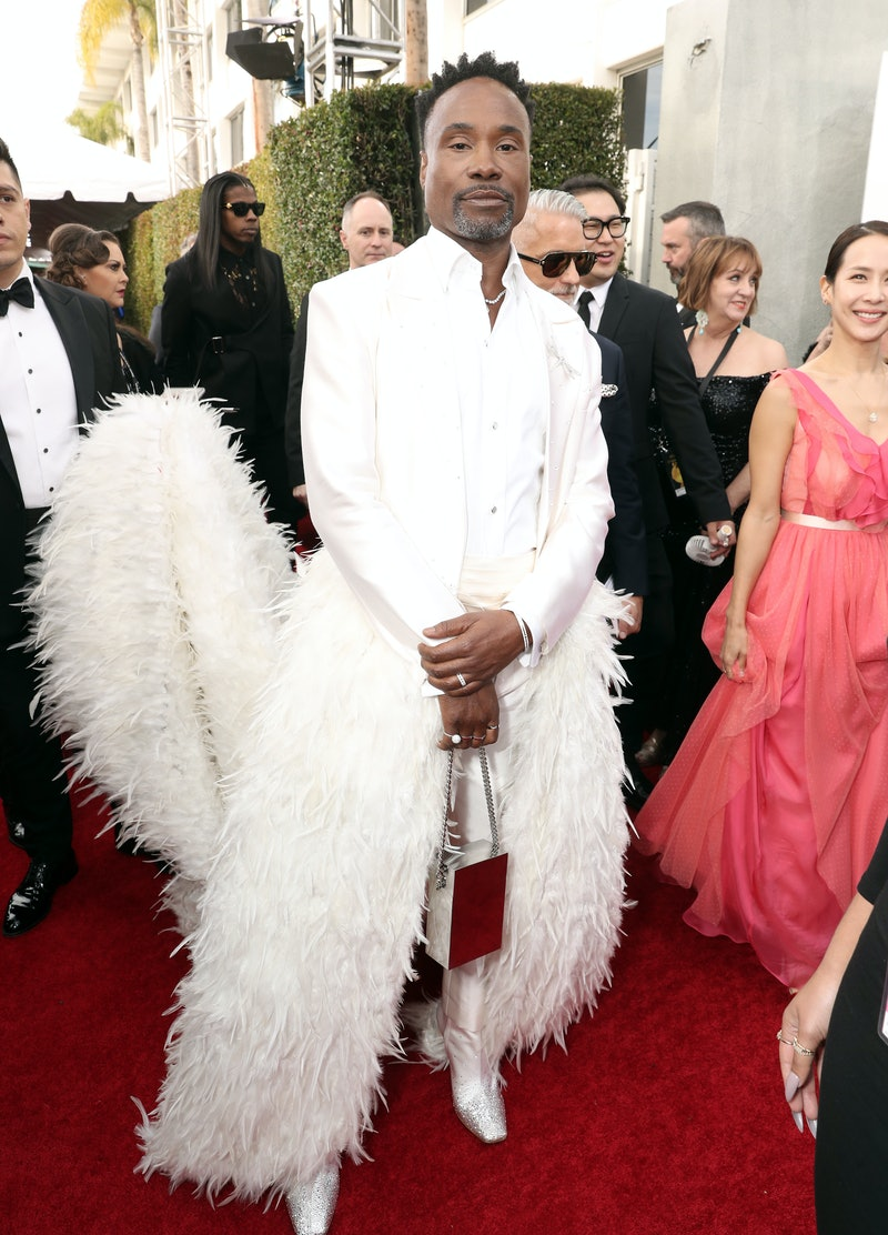 Billy Porter's 2020 Golden Globes outfit was a featured tuxedo.