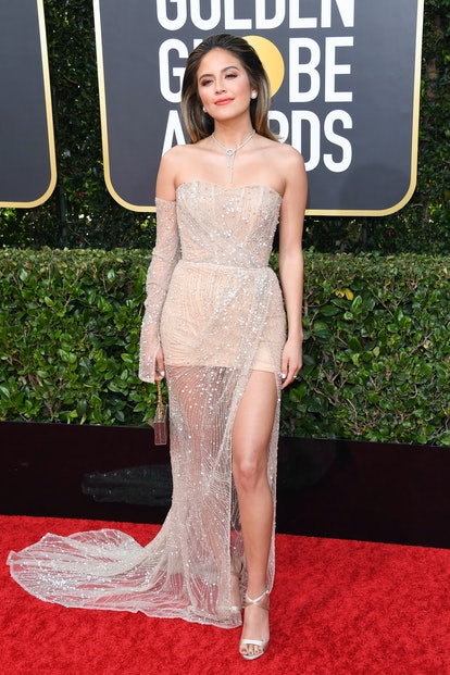 Erin Lim wore a sheer dress at the 2020 Golden Globes.