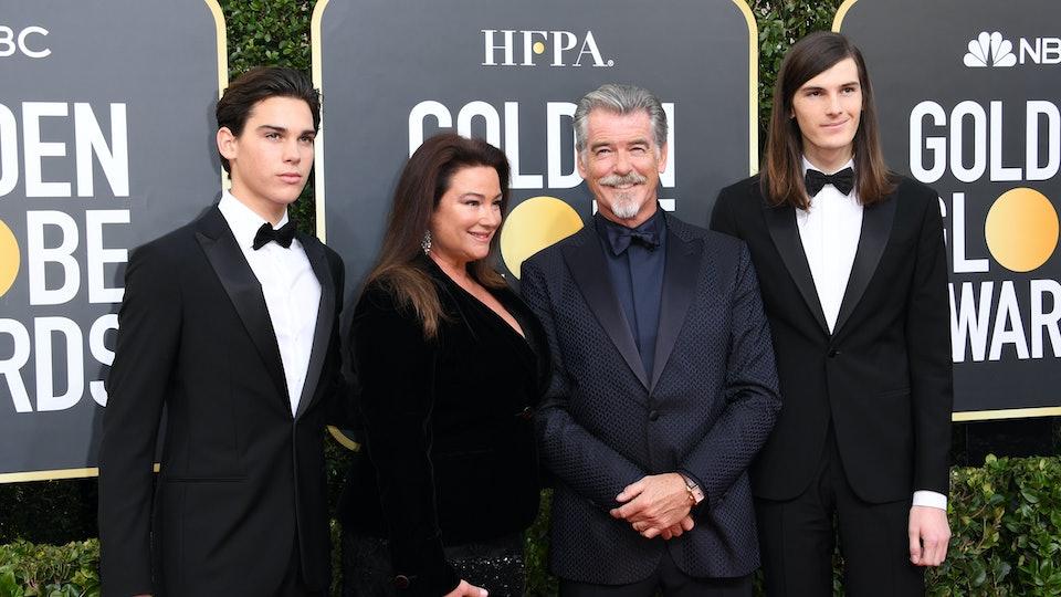 Pierce Brosnan's sons are the new Golden Globes ambassadors.
