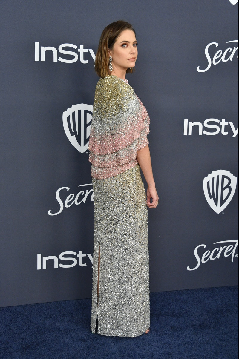 Ashley Benson's Golden Globes cape was a new take on a trend.
