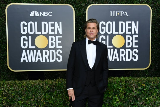 Brad Pitt won Best Supporting Actor at the 2020 Golden Globe Awards, where he stood in front of a to...