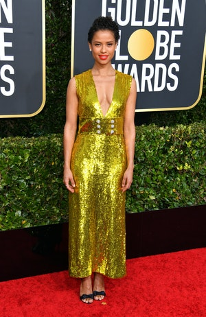 Gugu Mbatha-Raw shone at the 2020 Golden Globes in a dazzling sequinned Gucci gown