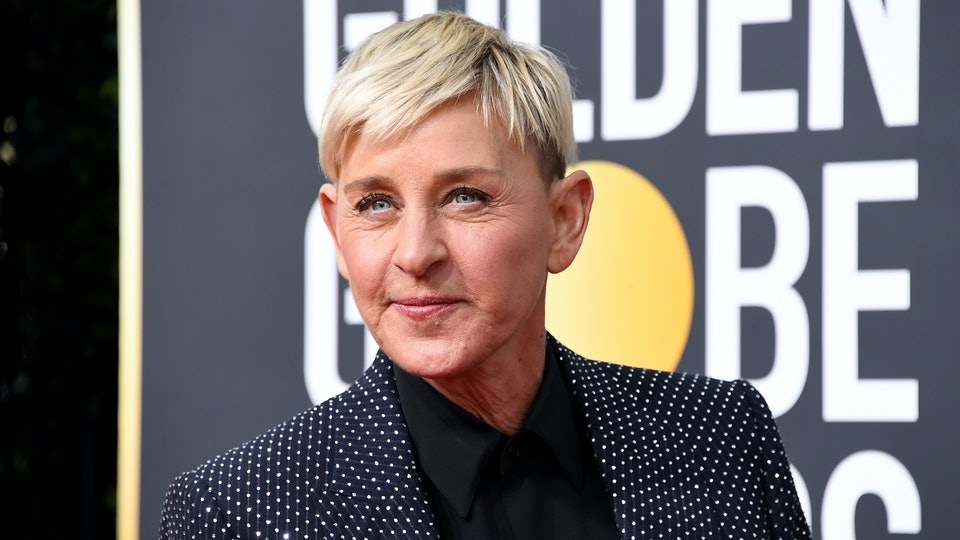 Ellen DeGeneres at the Golden Globes