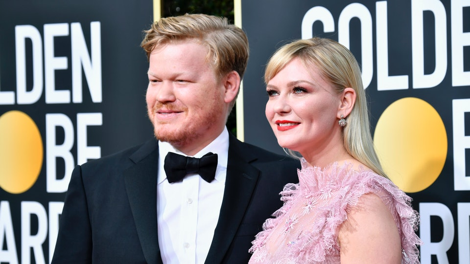 """Kirsten Dunst and her husband at the Golden Globes used the awards show as a """"parents' night out."""""""