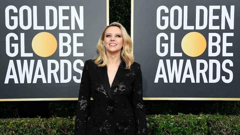 Kate McKinnon presented Ellen Degeneres with the Carol Burnett Award at the 2020 Golden Globe Awards.