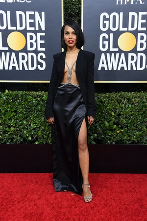Kerry Washington's Golden Globes harness was a major moment.