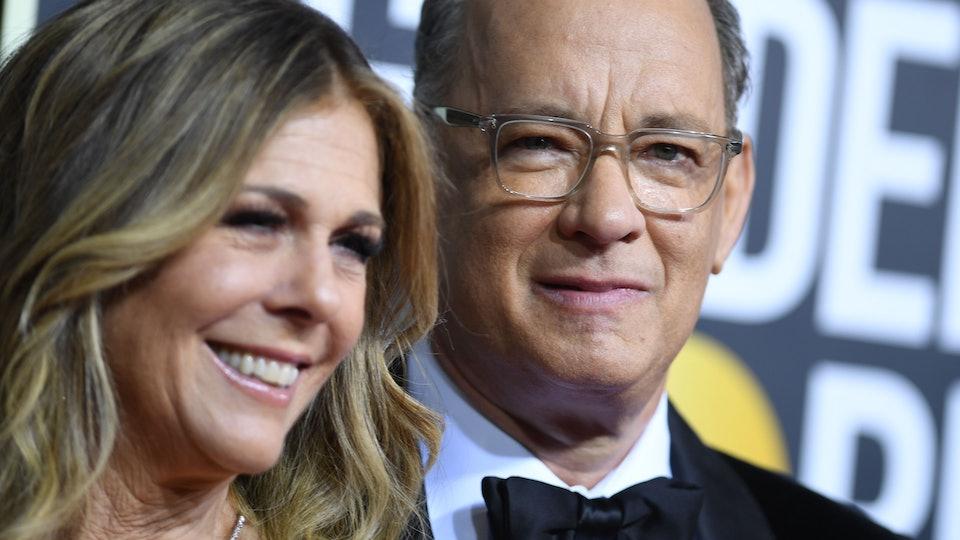 Tom Hanks and Rita Wilson on the Golden Globes red carpet