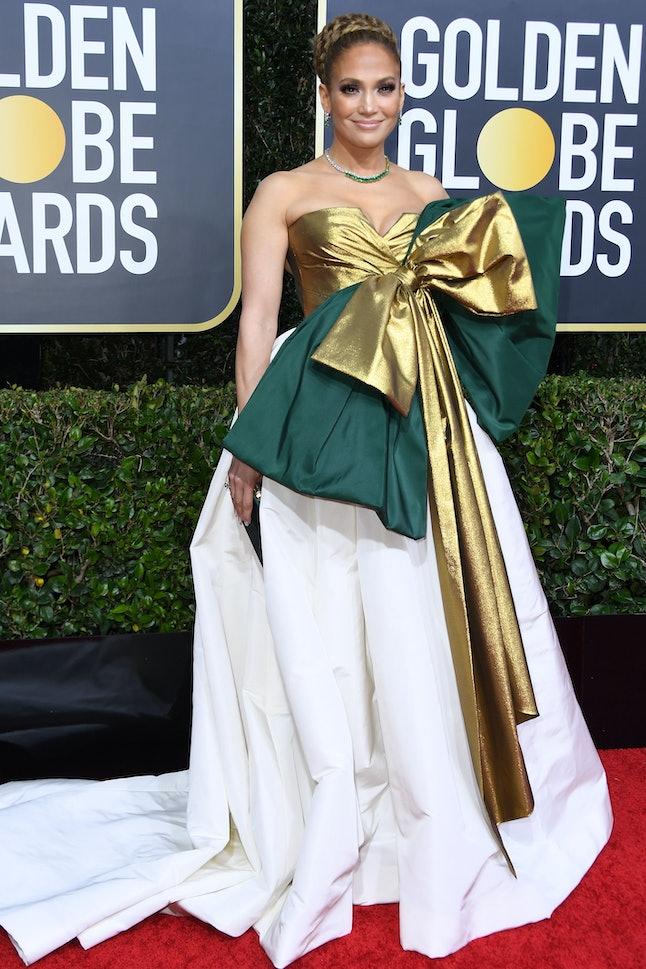 Jennifer Lopez's 2020 Golden Globes dress featured a massive bow.