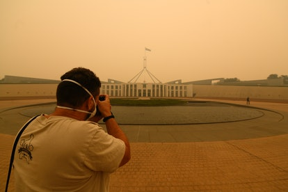 The nation's capital is currently shut down due to smoke.