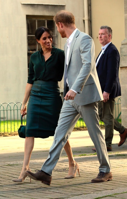 Markle began rocking monochromatic outfits in 2018.