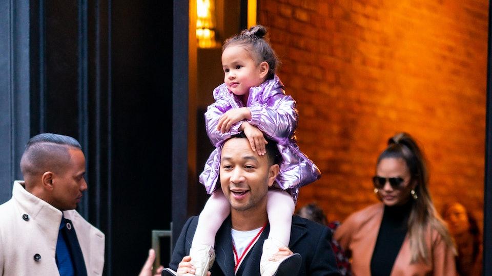 "Chrissy Teigen's daughter Luna called her dad ""John"""