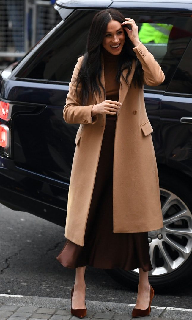 Meghan Markle wore monochromatic separates for her first event of 2020.