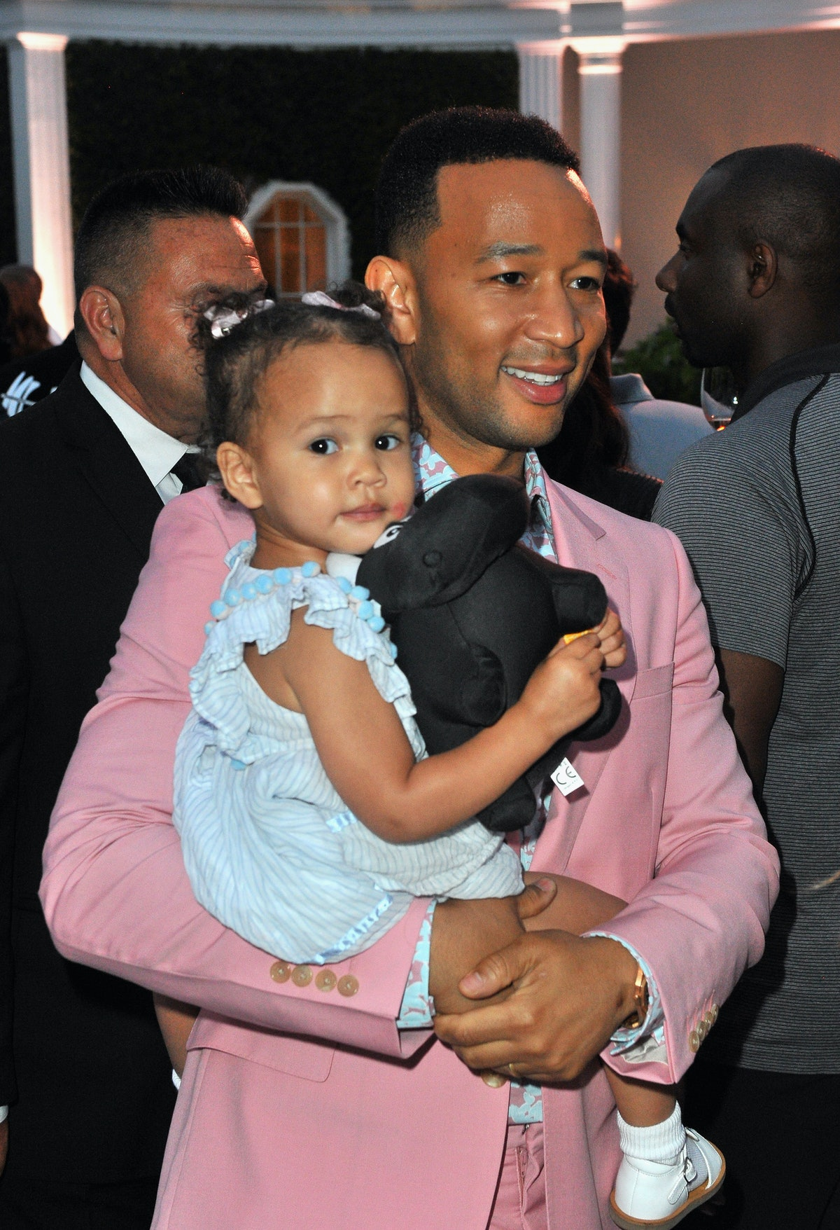 John Legend steps out with his daughter Luna.