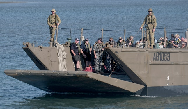 The navy evacuated 1,000 residents and tourists from Mallacoota, Victoria.