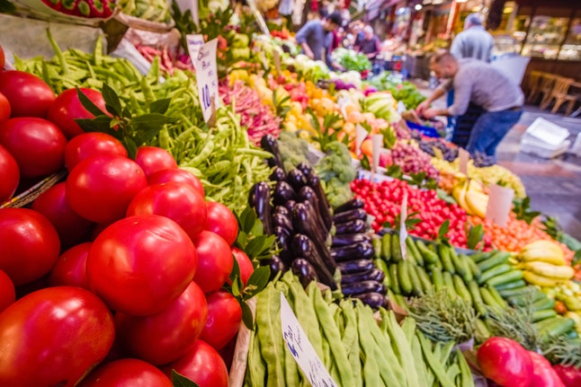 A vegetable stand in a market. Clean eating is a vague label that can exclude nutritious foods, experts say.