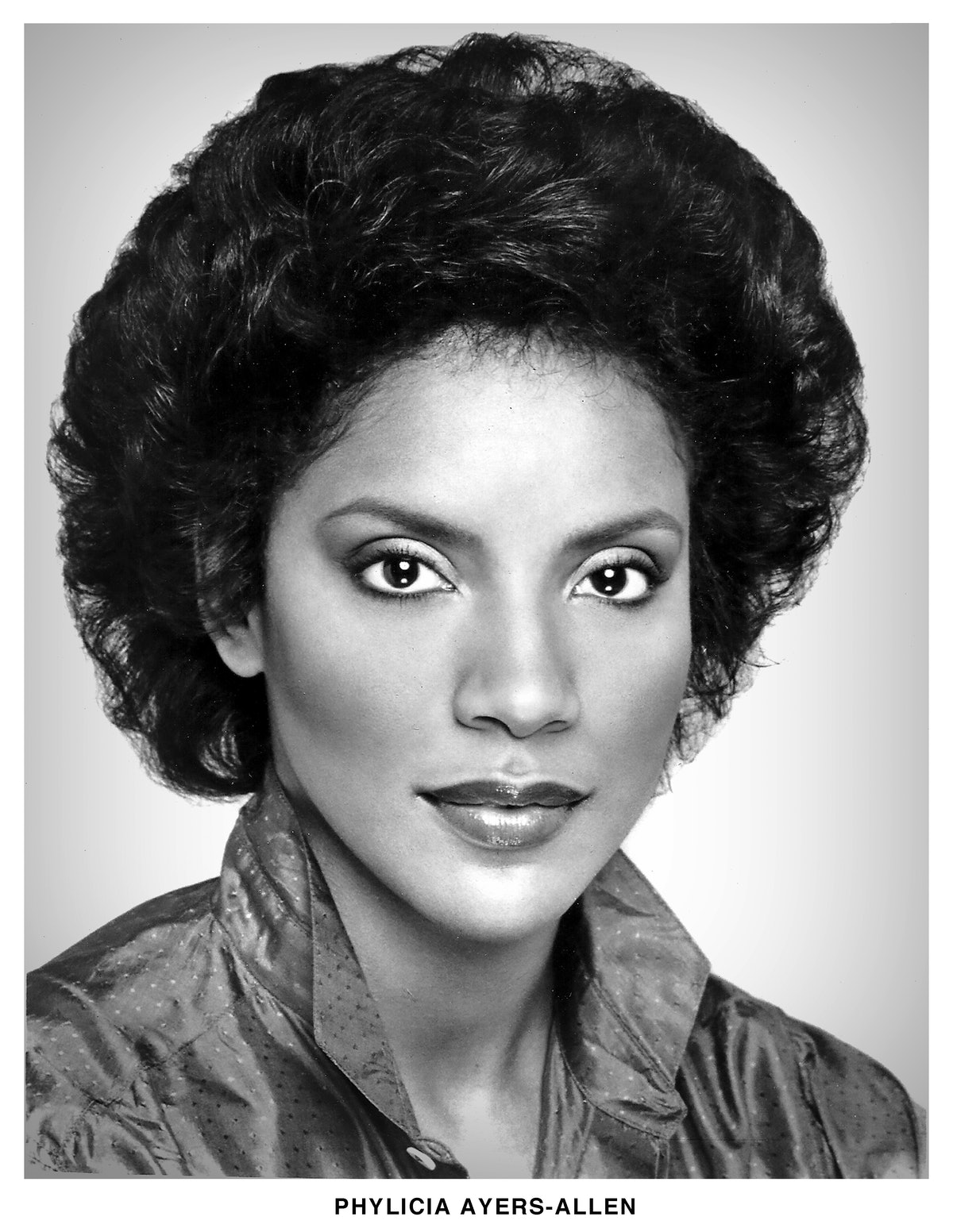 Phylicia Rashad, then Patricia Ayers-Allen, pictured in a headshot from 1975