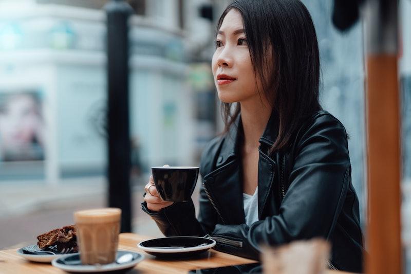 woman, coffee