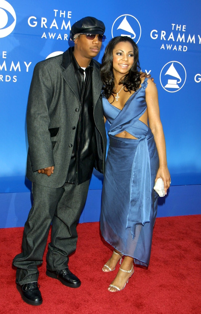 Ashanti and Ja Rule at the 2002 Grammys.