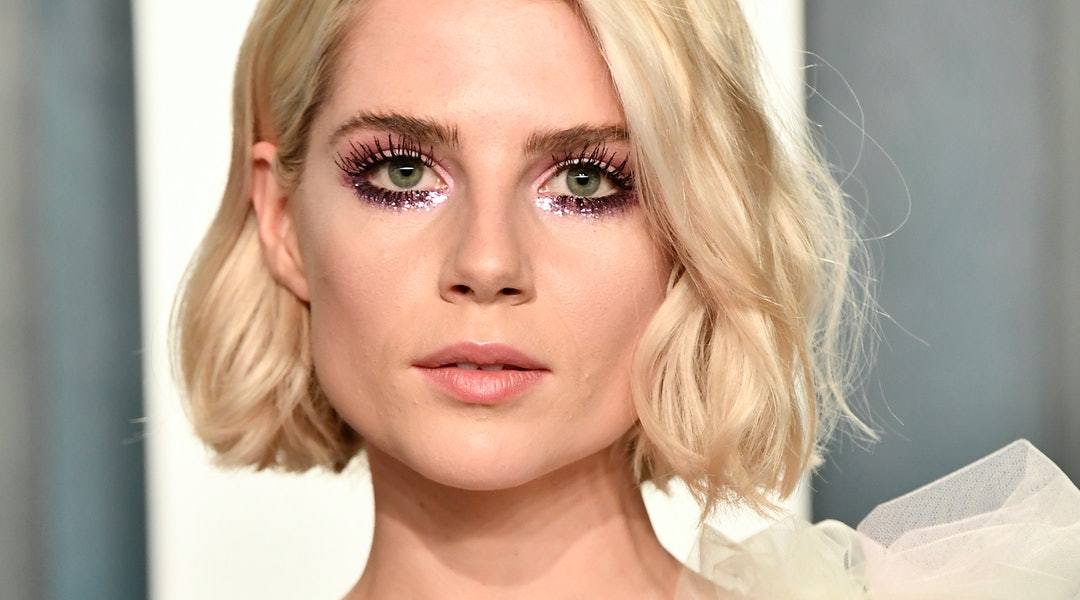 Lucy Boynton recently rocked a barely-there smoky eye.