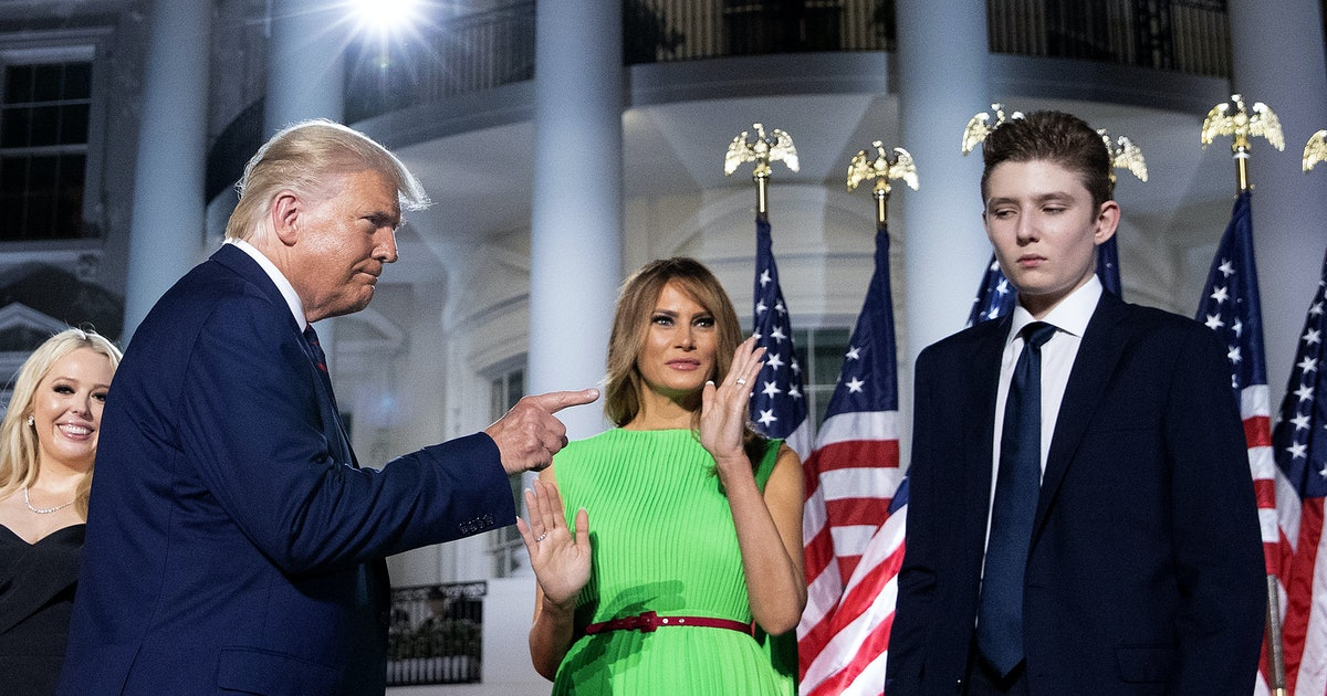 Trump uses Barron's coronavirus diagnosis to push for schools to reopen