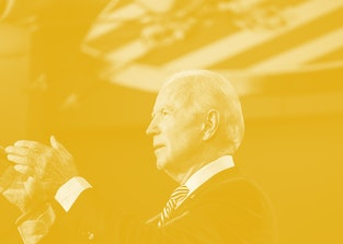 Joe Biden during a presidential debate with Donald Trump.