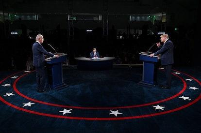 Joe Biden and Donald Trump at the first 2020 presidential debate