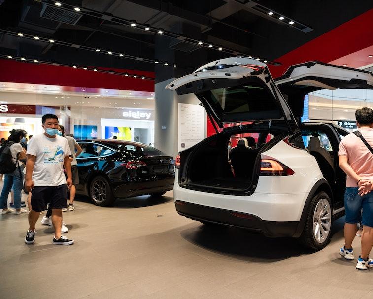 Tesla retail showroom.