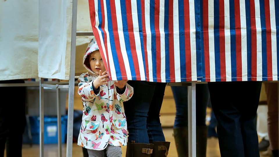 Free child care will be available on election day in 11 states.